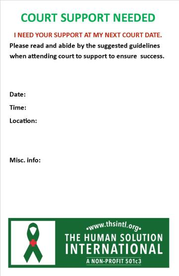 Court support card back front